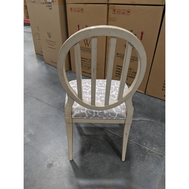 Traditional Modern Oval Back Dining Chair For Sale - Image 3 of 6
