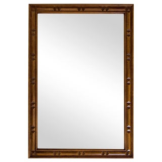 Large Walnut Mirror by Thomasville For Sale