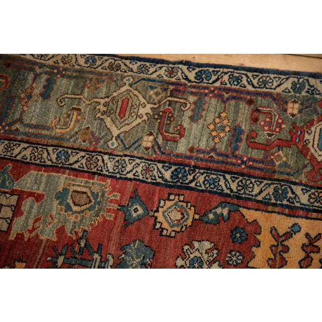 "Blue Vintage Bijar Rug - 4'10"" X 7' For Sale - Image 8 of 13"