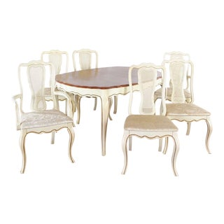 Shabby Chic Bassett Furniture Dining Set - 7 Pieces For Sale
