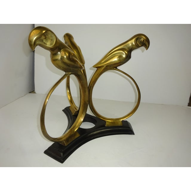 Art Deco Revival Brass Parrot Table - Image 6 of 8