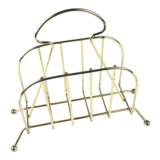 Mid-Century Brass Napkin Holder For Sale