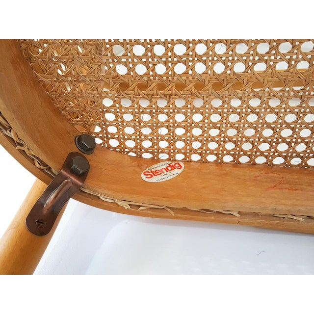 Vintage Stendig Cane Bentwood Dining Chairs- Set of 6 For Sale - Image 10 of 12