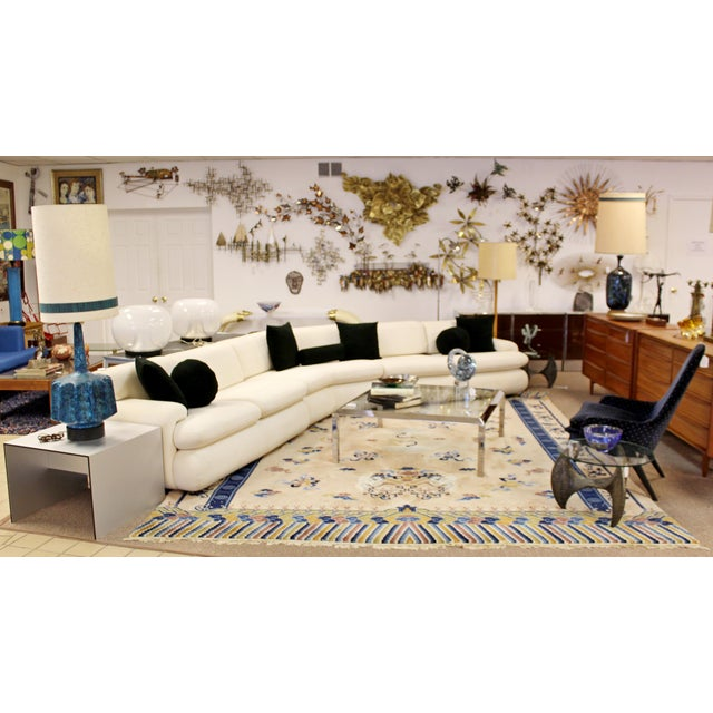 Contemporary Modern Kagan Style Preview 3 Pc Curved Sectional Sofa 1980s For Sale - Image 9 of 11