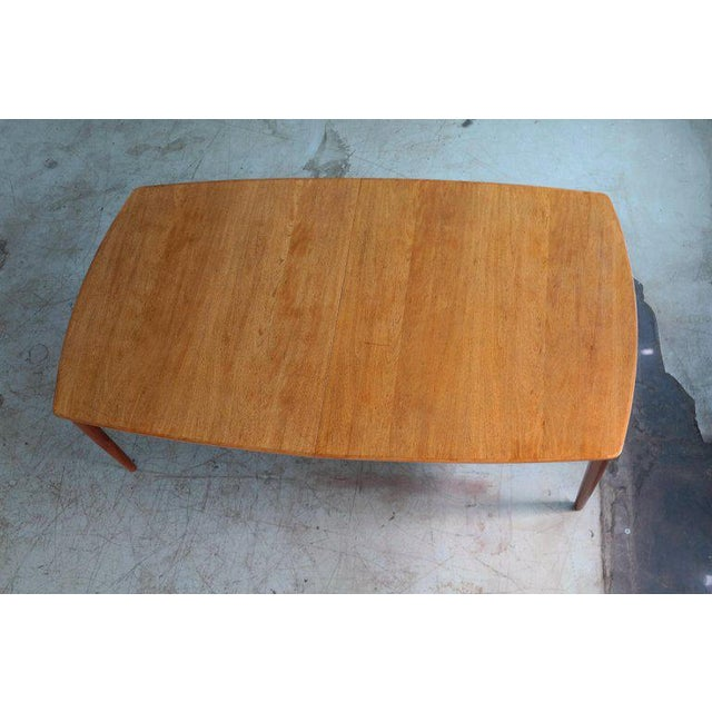 Wood Large Midcentury Danish Sixteen Person Teak Dining or Conference Table For Sale - Image 7 of 7