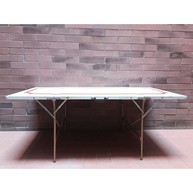 Mid 20th Century Mid 20th Century Metal Folding Suitcase Table For Sale - Image 5 of 5