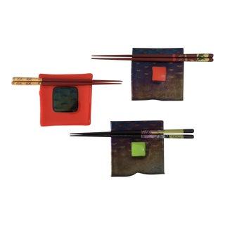 Modernist Handcrafted Sushi Plates - Set of 3