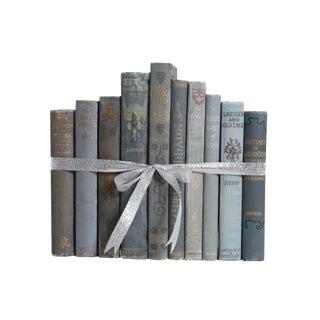 Antique Decorative Book Gift Set: Lavender & Pale Blue For Sale