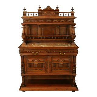Antique 1900 French Server/sideboard Henry Ii For Sale