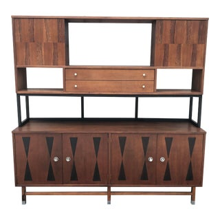 Mid-Century Modern Wall Unit or Credenza by Stanley For Sale