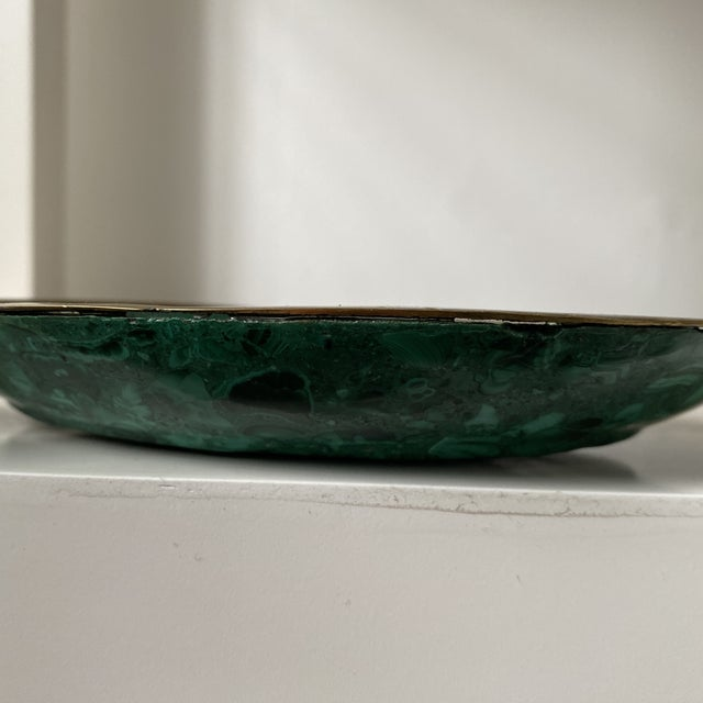 Malachite and Brass Ashtray or Dish For Sale In Chicago - Image 6 of 8