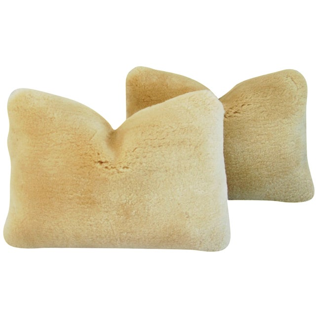 Pierre Frey Plush Lambswool Pillows - A Pair - Image 1 of 10