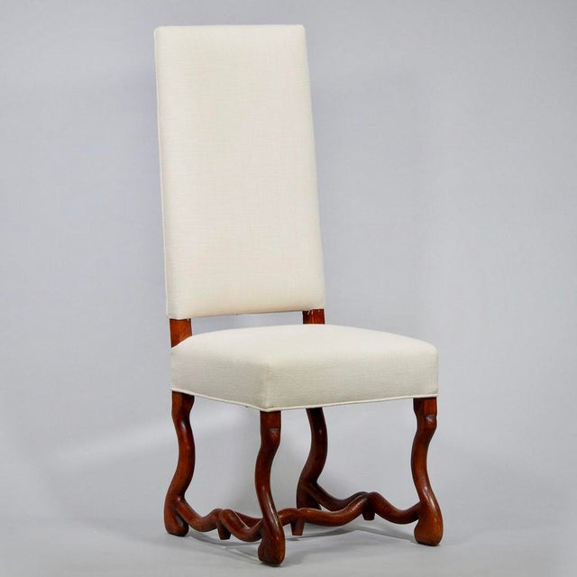 Set of 8 Newly Upholstered Os de Mouton Chairs For Sale - Image 4 of 10
