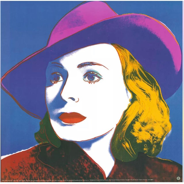 1993 Andy Warhol Foundation Reproduction Print of Ingrid Bergman For Sale