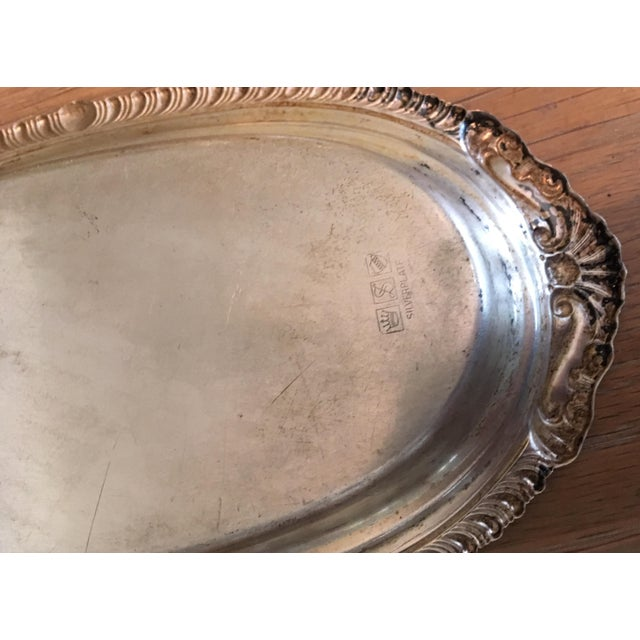 Antique Silver Butter Tray For Sale - Image 5 of 8