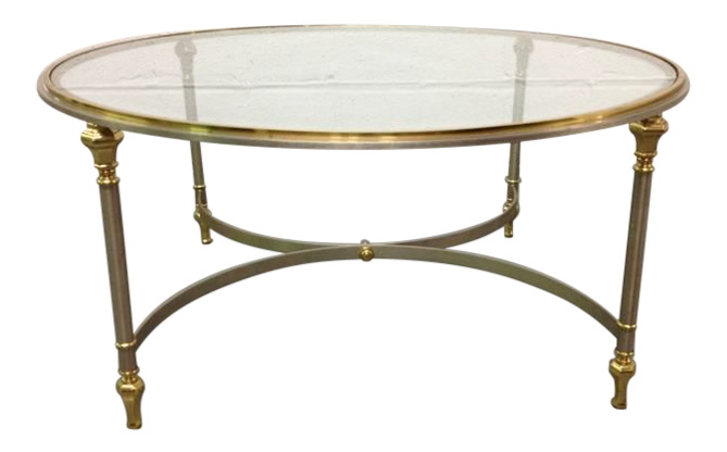 Brass And Steel Coffee Table In Maison Jansen Style   Image 1 Of 4