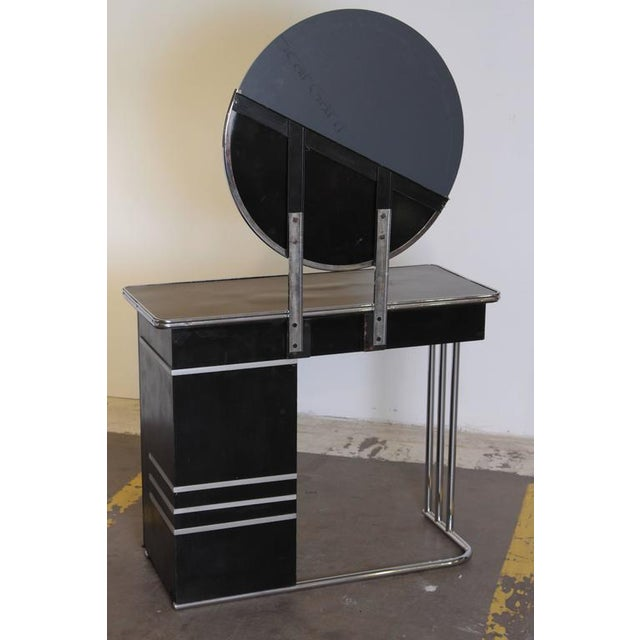 Machine Age Art Deco Royalchrome Dressing Table #347 by Royal Metal, 1936 For Sale - Image 4 of 11