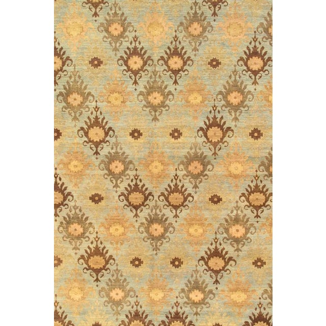 Pasargad's Ikat Wool Area Rug - 8′ × 9′10″ For Sale