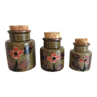 Mid Century Modern Canister Set - Set of 3 For Sale