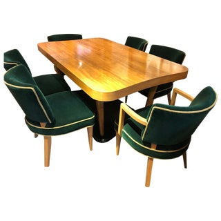 "Gilbert Rohde Art Deco ""Paldao"" Dining Room Set for Herman Miller 10 Pieces Comp For Sale"