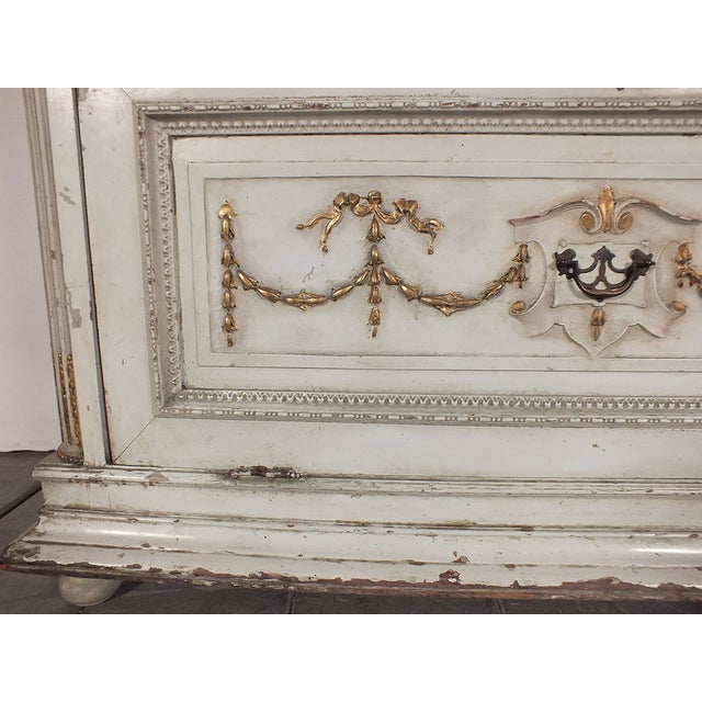 19th C. French Painted Chest of Drawers - Image 8 of 10
