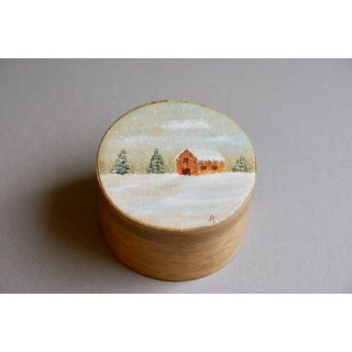Hand Painted Bentwood Trinket Box Preview