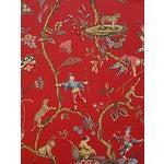 Sample, Scalamandre Chinoise Exotique Wallpaper, Tomato
