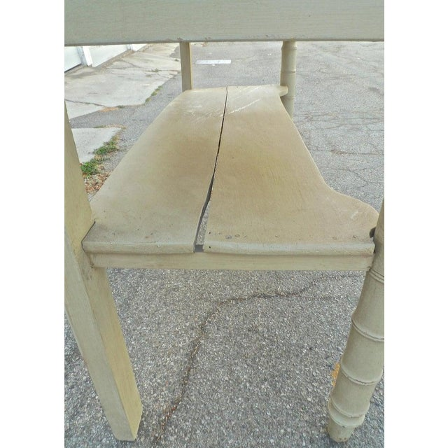Cream 19th Century French Painted Server or Vanity With Two Drawers and Two Shelves For Sale - Image 8 of 12