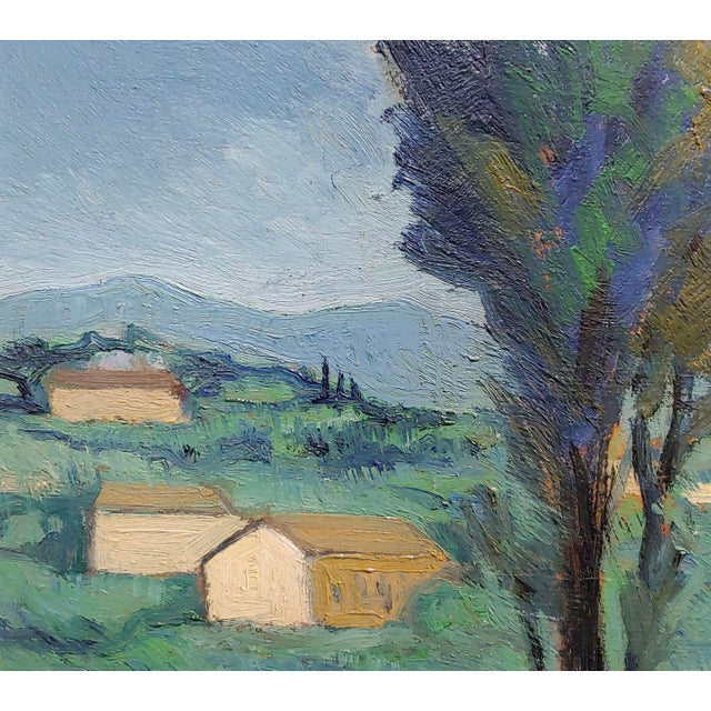 Italian Countryside - 1920s Oil Painting For Sale - Image 4 of 8