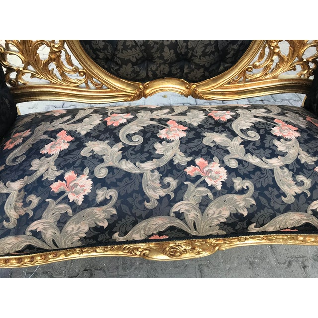 Gold French Louis XVI Style Settee For Sale - Image 8 of 12