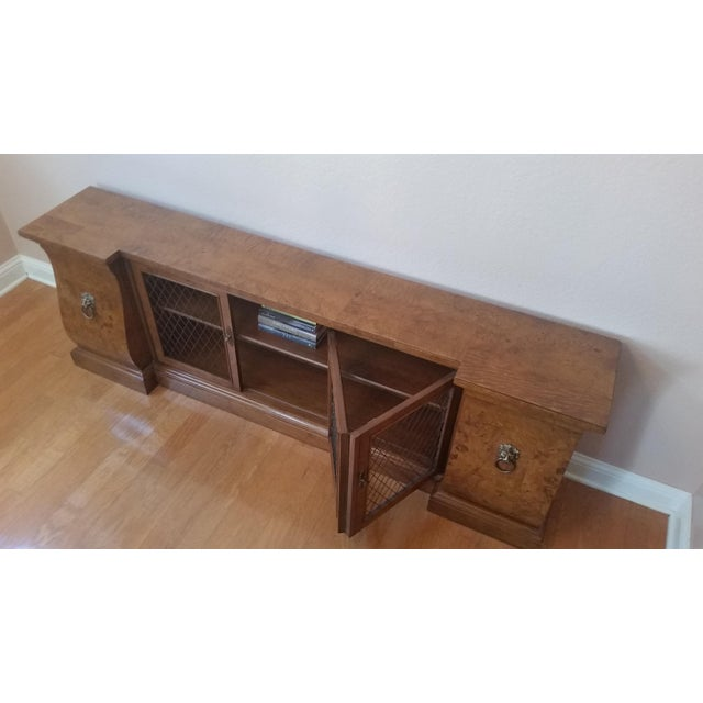 French French-Style Burled Wood Credenza For Sale - Image 3 of 10