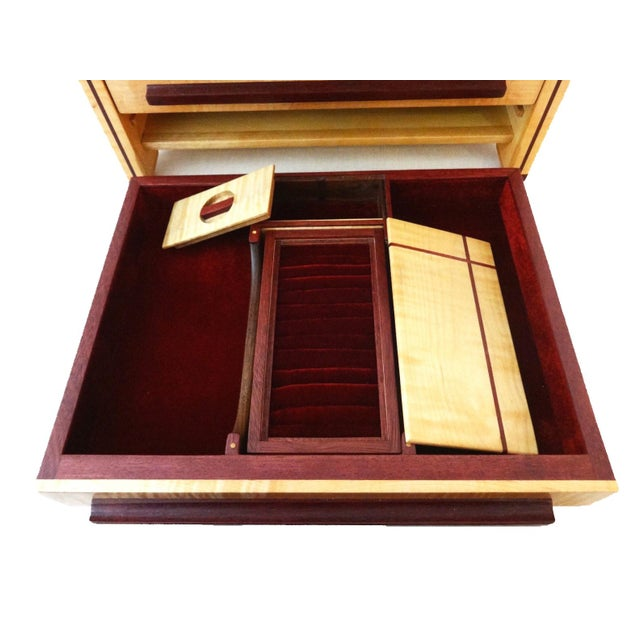 Large Jewelry Box & Organizer For Sale - Image 9 of 11