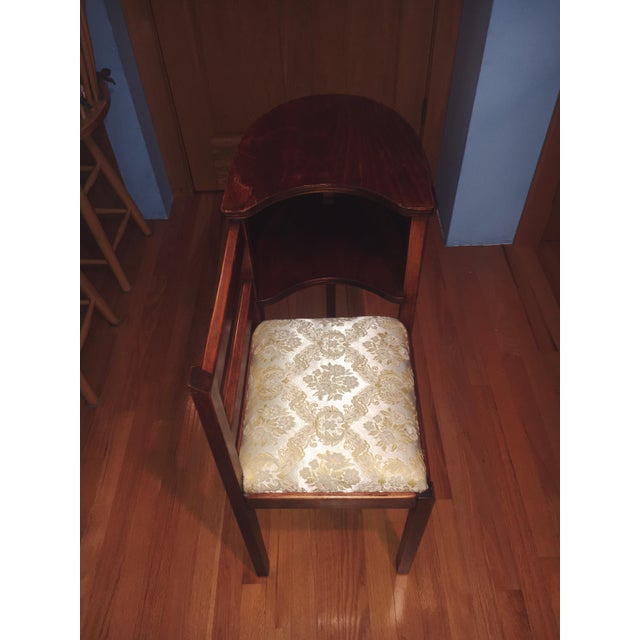 1930s Vintage Chair & Attached Desk For Sale - Image 4 of 6