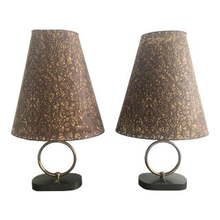 1940's Gilbert Rohde Style Lamps - a Pair For Sale
