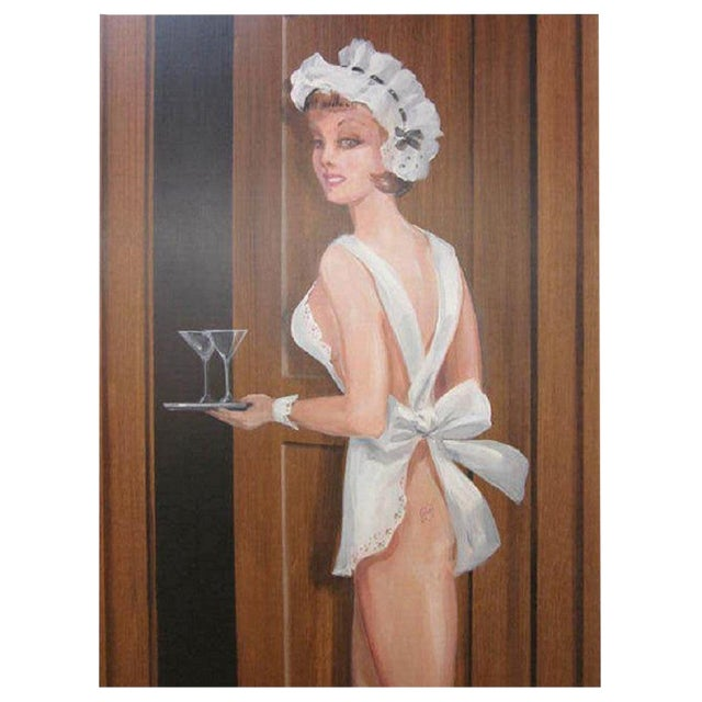 Large Painting of a Woman by Lee Ames For Sale