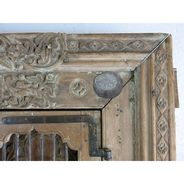 Antique Northern India Hand Carved Double Doors With Jamb - Image 8 of 10