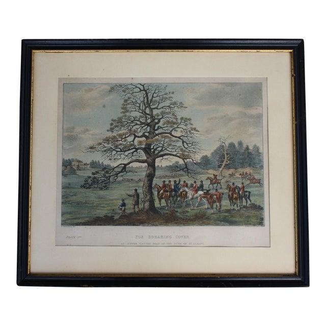 1824 Tinted Framed Engraving After Dean Wolstenholme Jr [British 1798-1882] For Sale
