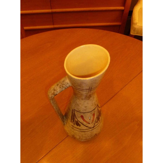 Tall 50s German Ewer Form Vase by Scheurich For Sale In Miami - Image 6 of 9