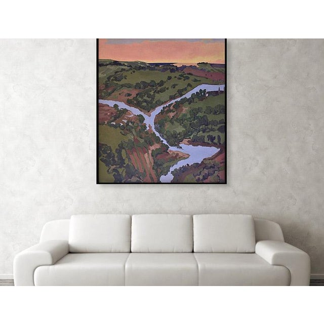'Maui Valley Isle Stream and Sunset' is an imagined landscape with some photo reference painted in my Kihei, Maui studio,...