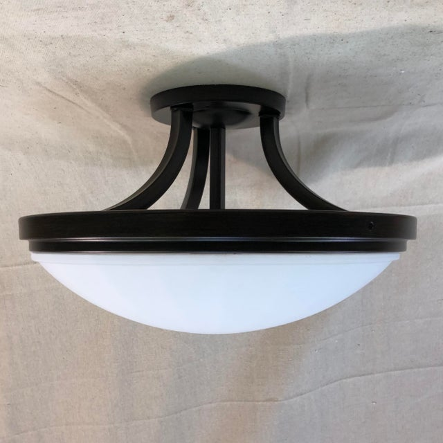 Transitional Feiss 2-Light Perry Semi-Flush Mount For Sale - Image 3 of 9