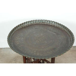 20th Century Persian Mameluke Tray Table on Wooden Folding Stand Preview