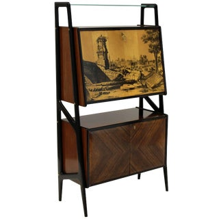 Gio Ponti Style Bar Cabinet