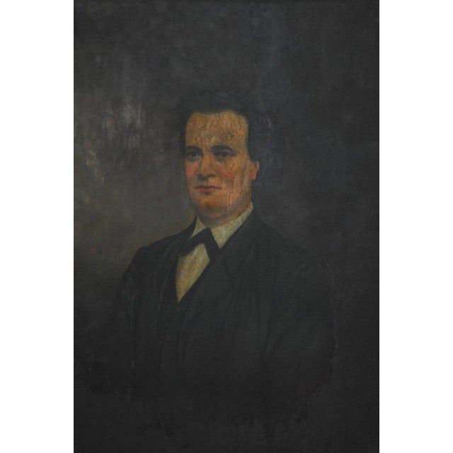 Traditional 19th Century English Portrait of a Gentleman Oil on Canvas For Sale - Image 3 of 10