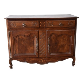 Late 18th Century Antique French Walnut Buffet For Sale