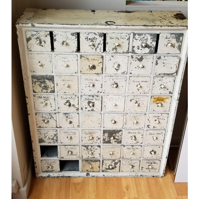 This amazing metal drawer unit has some seriously fantastic details. Purchased from a turn of the century victorian in...