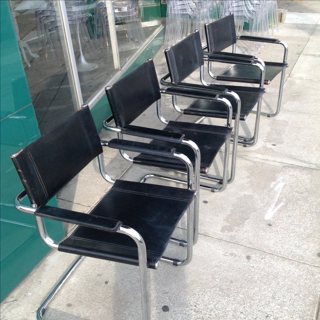 Mark Stam Vintage Cantilever Arm Chairs - Set of 4 - Image 8 of 8