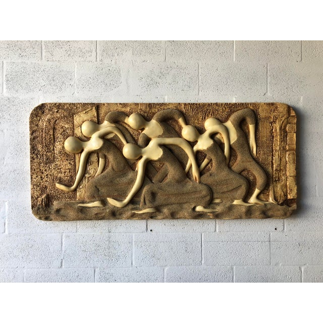 Plastic Large Vintage Mid Century Modern Brutalist Finesse Originals Fiberglass Wall Hanging Sculpture For Sale - Image 7 of 13