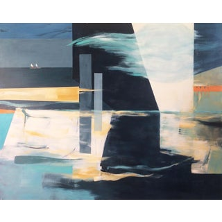 """Fanou Montel """"Wind Direction"""" Large Abstract Landsccape Painting For Sale"""