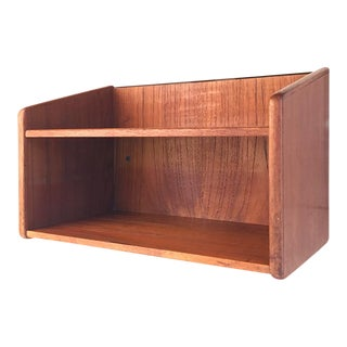 Vintage Teak Danish Wall-Mounted Shelf