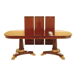 Kindel Empire Design Mahogany Dining Room Table